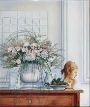 """""""Ricordi e fiori di campo"""" olio su ela 50 x 60 Amalia Di Sante"""