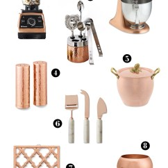 Copper Kitchen Aid Island With Oven The Destin Commons Ruffoni Artichoke Handle Stock Pots 425 2 Kitchenaid Metallic Series 5 Qt Stand Mixer 599 95 3 Vitamix Pro 750 Heritage Blender 649