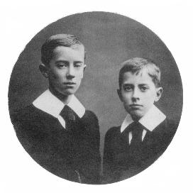 Tolkien y su hermano pequeño Hilary Arthur