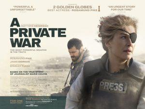 Resultado de imagen de cartel de la película la corresponsal