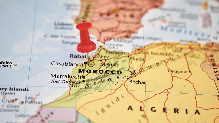 mapa marruecos diferente