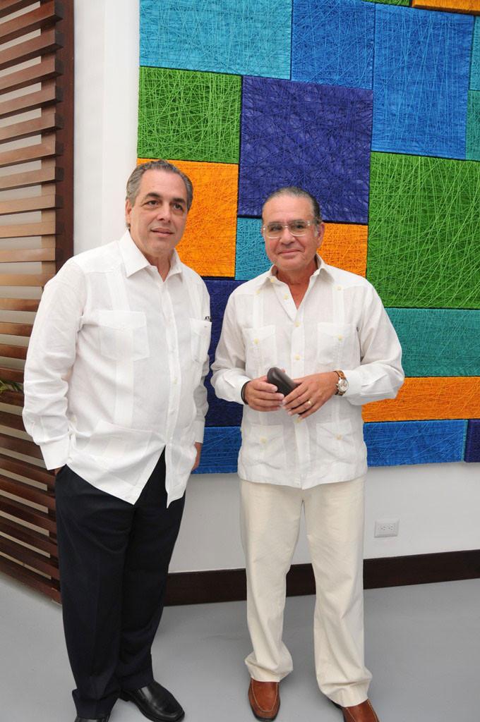 Abraham Hazoury y Benny Guevara