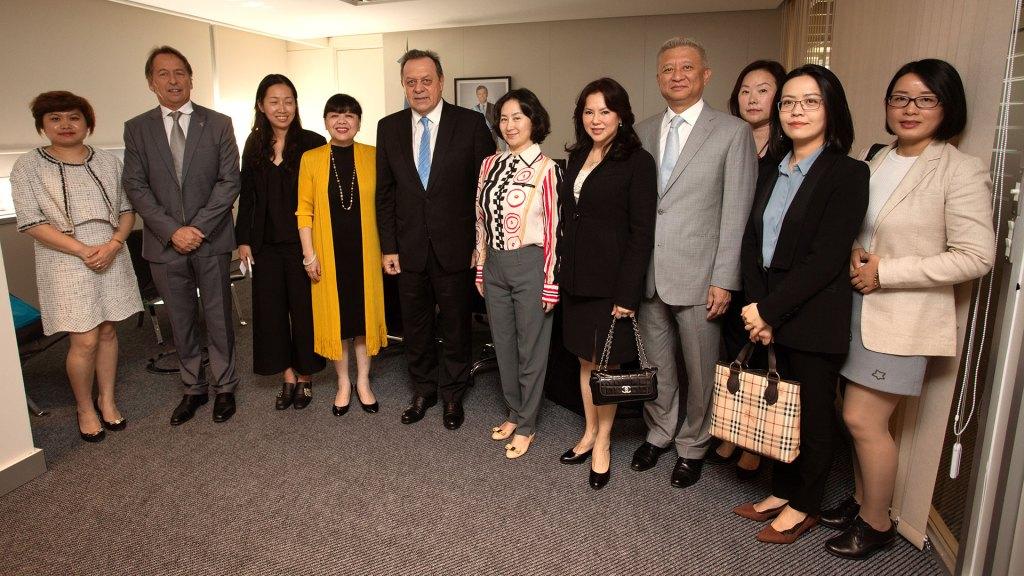 Pansy Ho, presidenta del Foro de Economía Global de Turismo, encabeza la misión de la República Popular China que visita la Secretaria de Turismo de la Nación Argentina