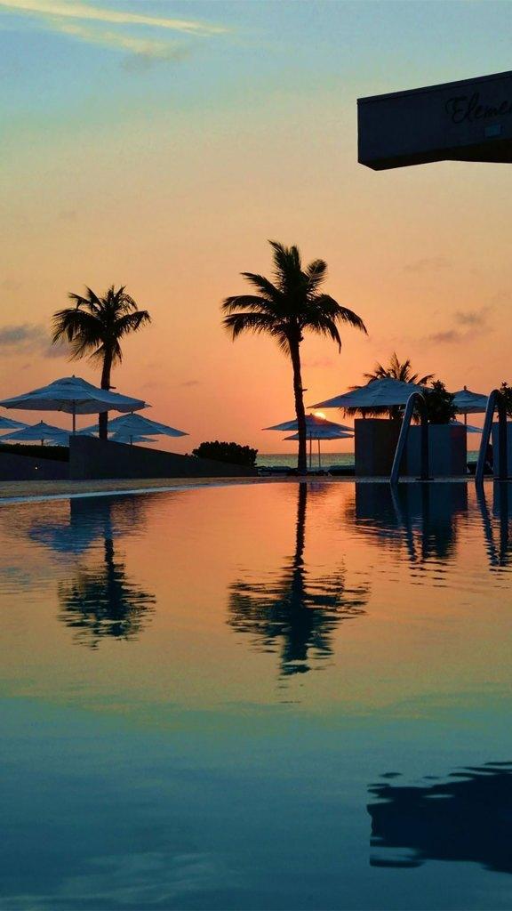 Piscina al atardecer (Foto: Bucuti & Tara Beach Resort)