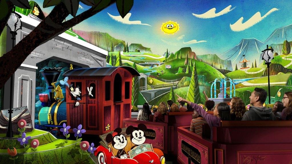 La atracción Mickey and Minnie's Runaway Railway de los parques Disney (Foto: Disney)