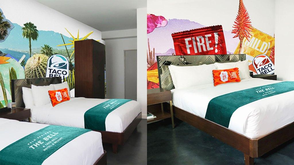Habitaciones del Taco Bell Hotel (Foto: Taco Bell)