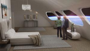 Propuesta de habitación en el Hotel Espacial Von Braun (Foto: Fundación Gateway)