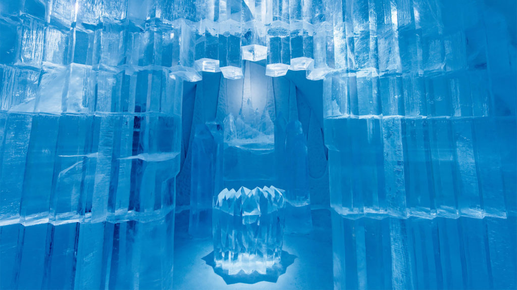 Sweden's ICEHOTEL is built on ice each winter and melts away in spring
