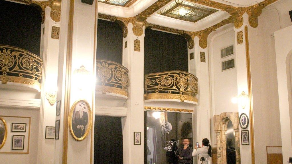 Balcones de la sala Tango Carlos Gardel