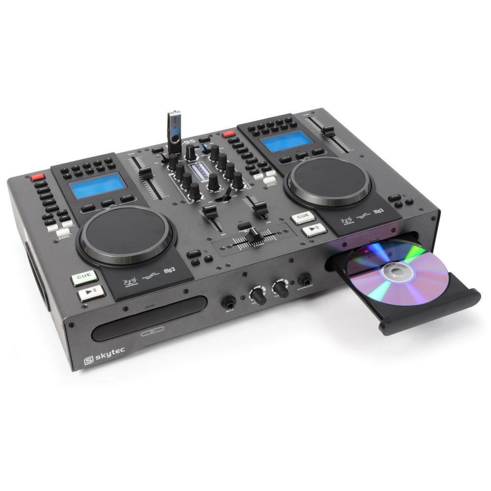 Twin Top Cd Decks Player Mobile Dj Disco Party Mixer Usb