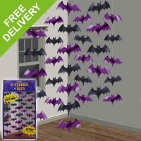 Halloween Party Hanging Bat String Decorations Disco DJ ...