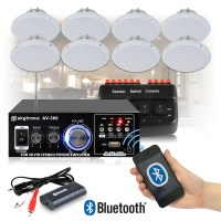 Cafe Restaurant Shop Bluetooth Amplifier Ceiling Speaker ...