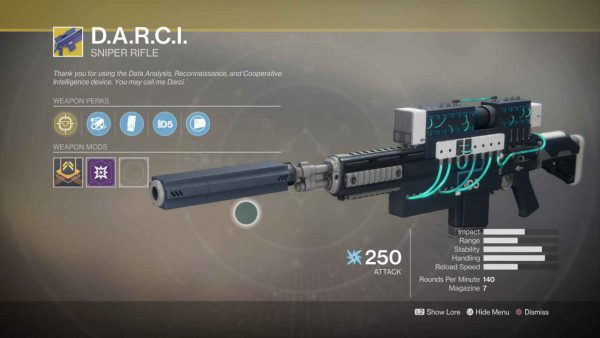 D.A.R.C.I Weapon Overview – Destiny 2 Sniper Rifle