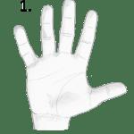 earth hand, hand shape