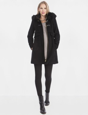Seraphine Toggle Closure Rayon Maternity Jacket
