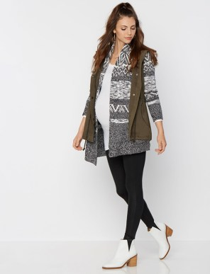 velvet by GRAHAM & SPENCER Cargo Pockets Cotton Woven Maternity Vest