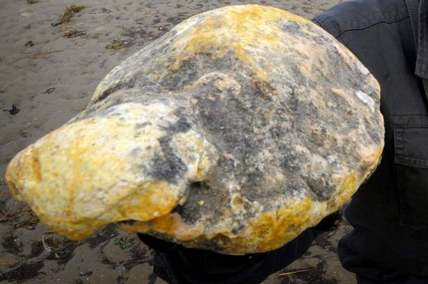 The rare whale vomit or 'ambergris' found by Ken Wilman