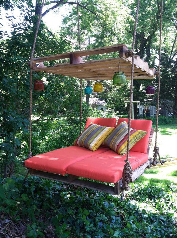 When the Redditor saw this backyard swing project on Pinterest, he knew he had to recreate it.