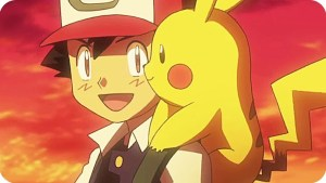 ash pikachu sunset friends buddies pals