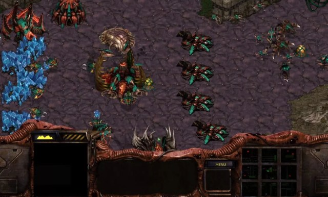zerg base from starcraft in high definition remastered quality