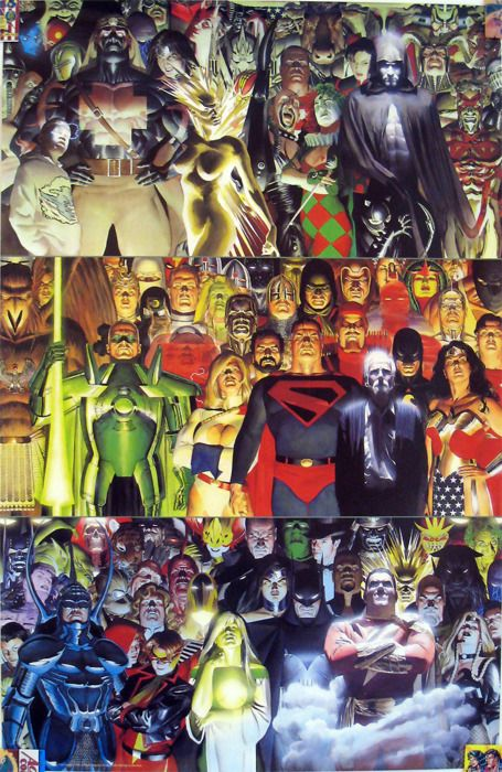 Example art of alex ross' painting style of comic art