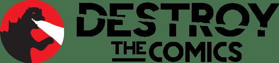 destroy the comics logo