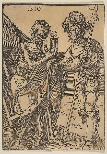 death and the solder - woodcut art from the met
