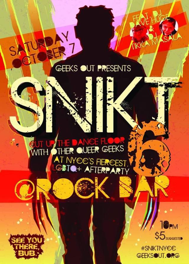 snkit party flyer