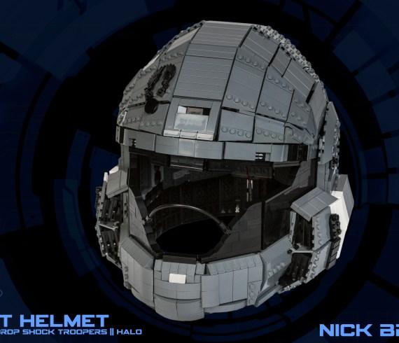 ODST HALO Helmet ricreato in scala 1:1 con i mattoncini LEGO