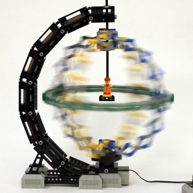 Hoberman Sphere Stand created by JKBrickworks