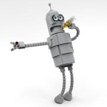 LEGO MOC Bender Futurama - istruzioni