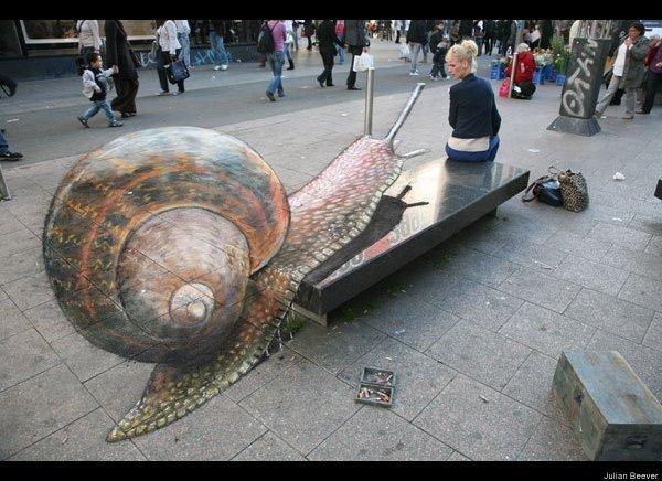 3D Sidewalk Chalk Art Drawings