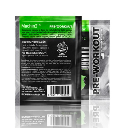 Gentech Machine Pre-Workout Green Twist Sobre II