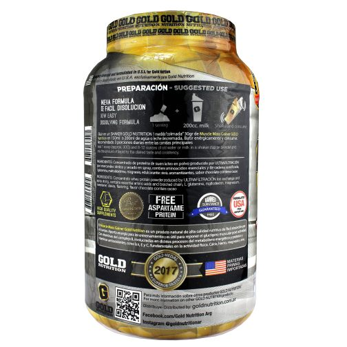 GOLD NUTRITION MUSCLE MASS LADO 2