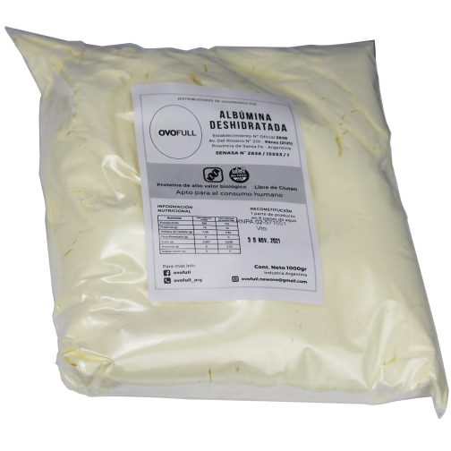 Albumina de Huevo Deshidratada OVOFULL (1000 Grs)