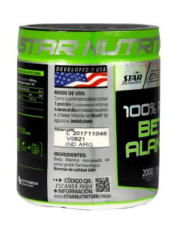 Beta Alanina STAR NUTRITION Evolution (300 Grs)