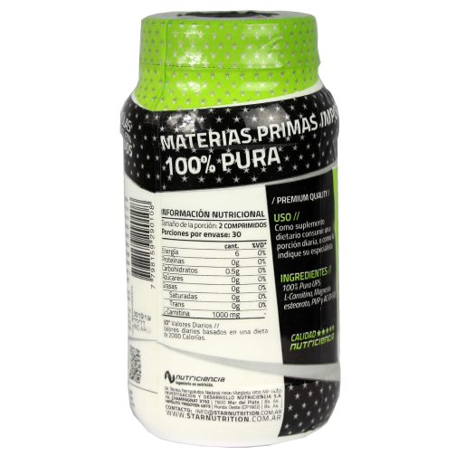 L-Carnitina STAR NUTRITION (60 Caps)