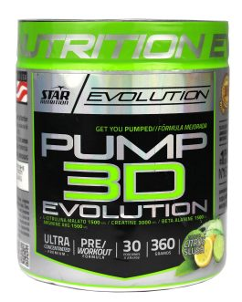 Pump 3D Evolution Citrus STAR NUTRITION (360 Grs)