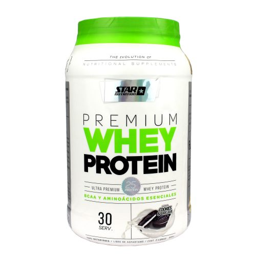 STAR NUTRITION WHEYPROTEIN 1000GRS COOKIES & CREAM