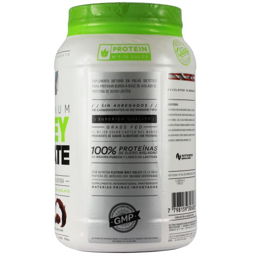 Star Nutrition Whey Protein Isolada 1000 Chocolate - Lado 2