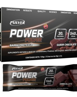 PULVER Power Barras (720 Grs) Chocolate