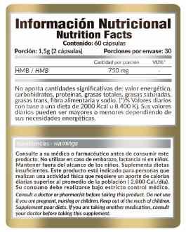 HMB (60 Caps) GOLD NUTRITION