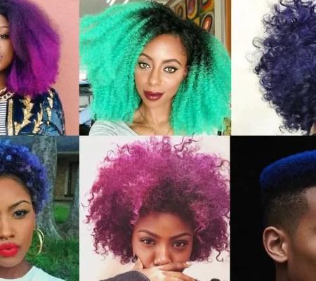 Inspiração Pinterest - Crespos e Cachos coloridos