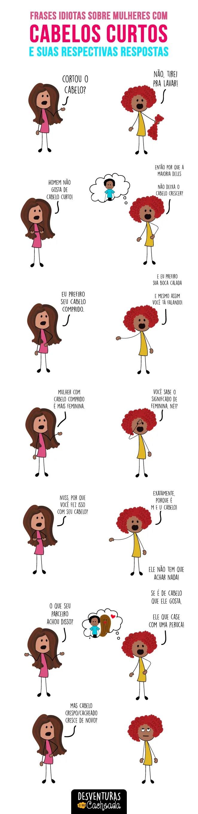 Frases idiotas sobre mulheres com cabelos curtos