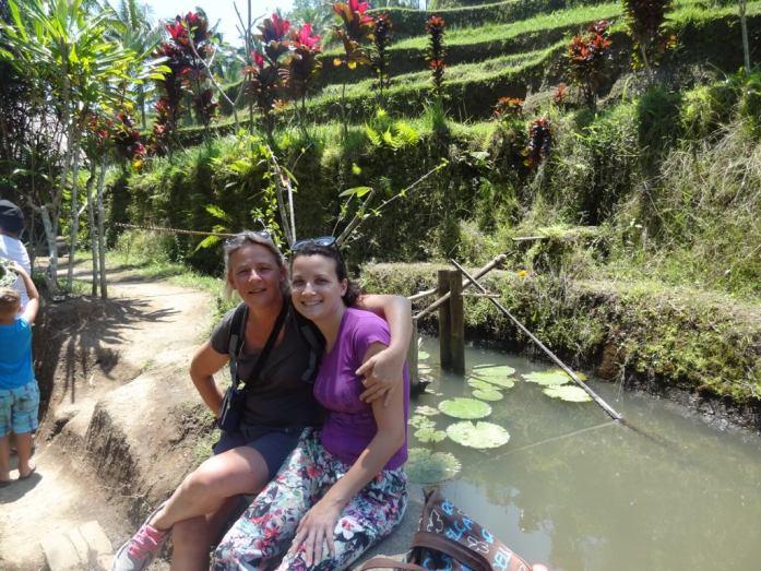 Belle-maman et moi, heureuses, rizière de Tegalalang, Ubud