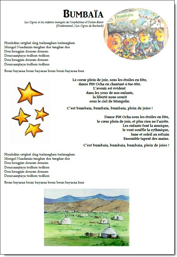 Chant – Bumbaïa – Les ogres de Barback