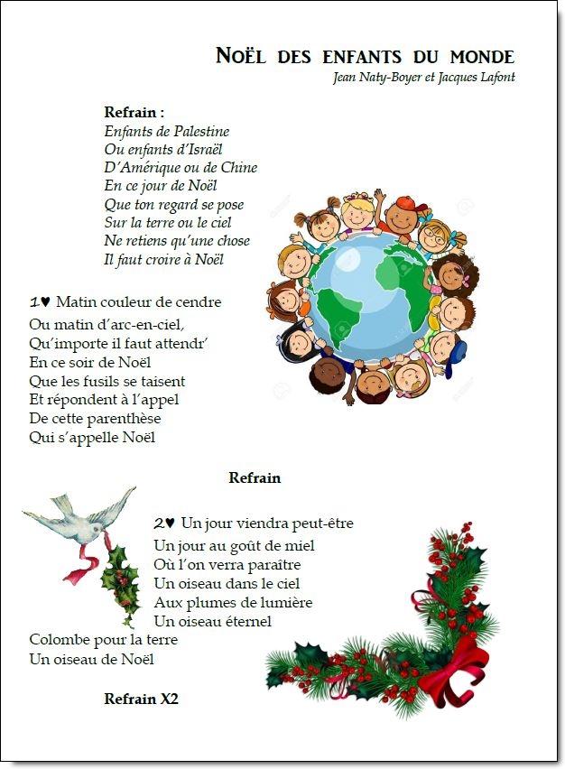 Chant - Noël des enfants du monde