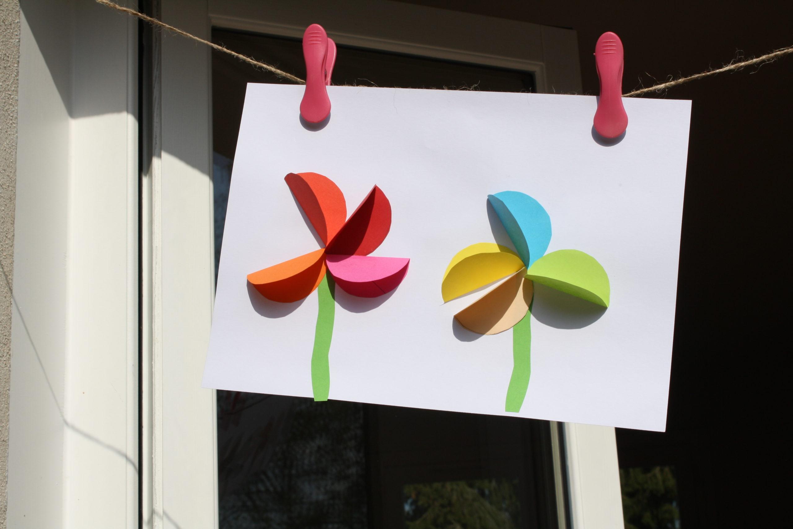 La grande lessive en mode confinement – Fleurir les fenêtres