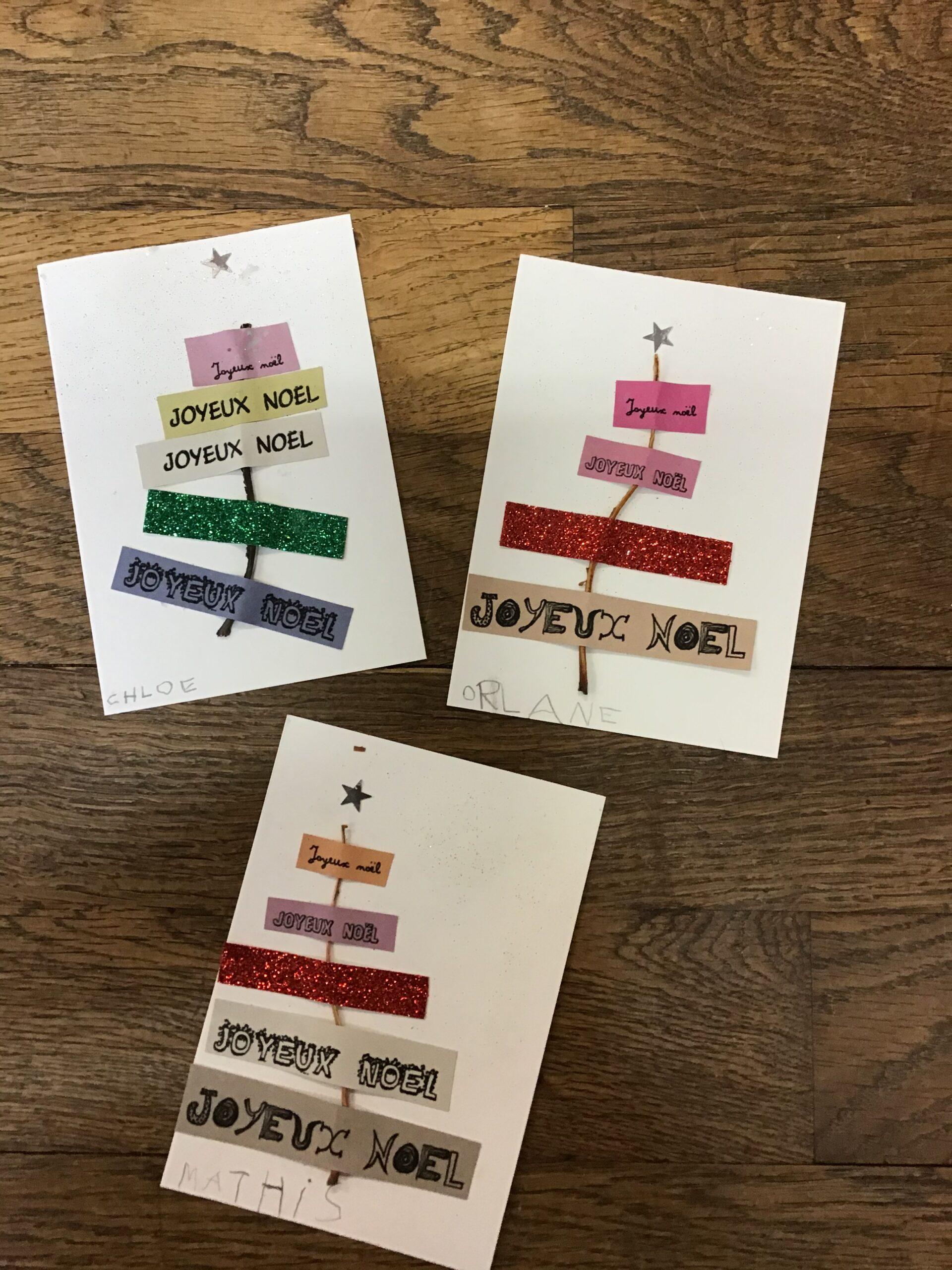 Nos cartes de Noël : 4 modèles