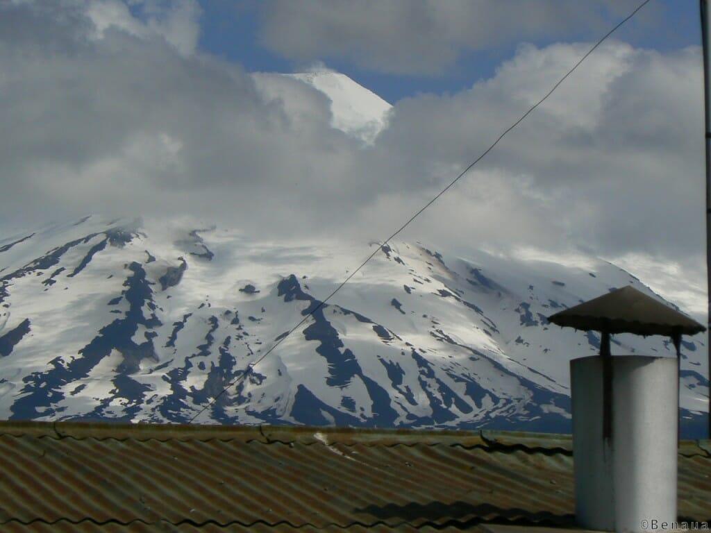 Volcan Actif - Vue du Volcan Villarica de la ville de Pucon